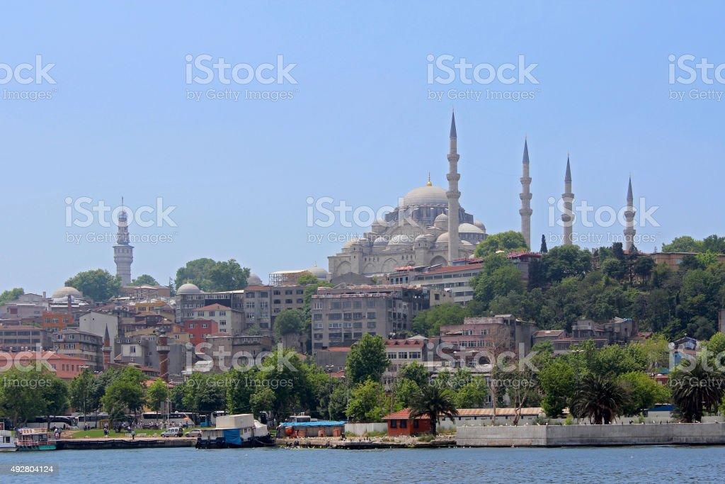 Eminonu in Istanbul, Turkey. stock photo
