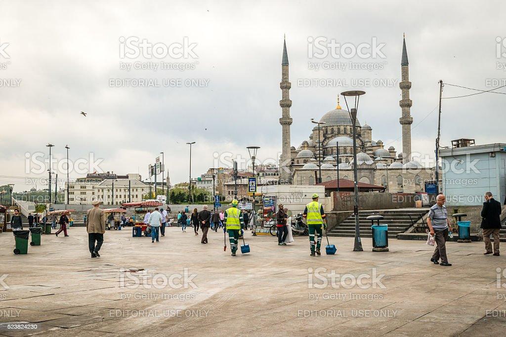 Eminonu in Istanbul, Turkey stock photo