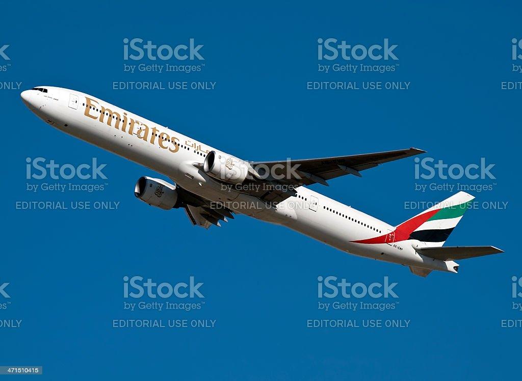 Emirates A6-EMP royalty-free stock photo