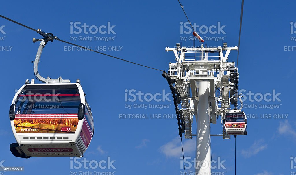 Emirates Cable car royalty-free stock photo