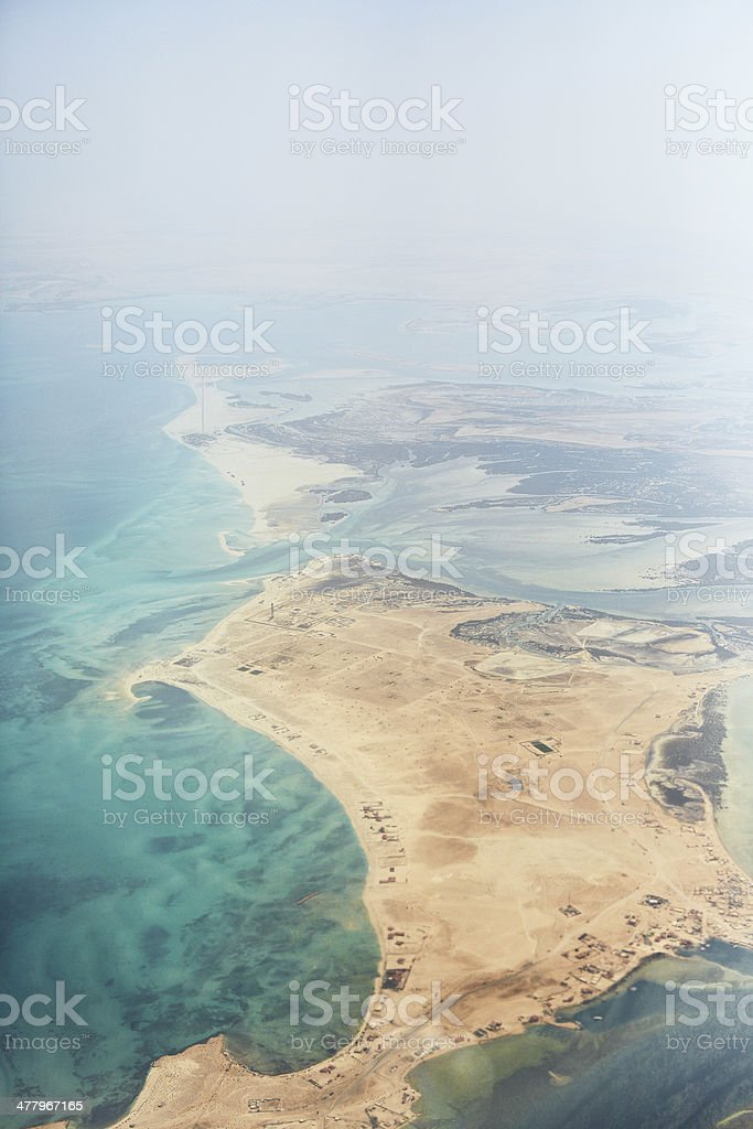 Emirates from above royalty-free stock photo