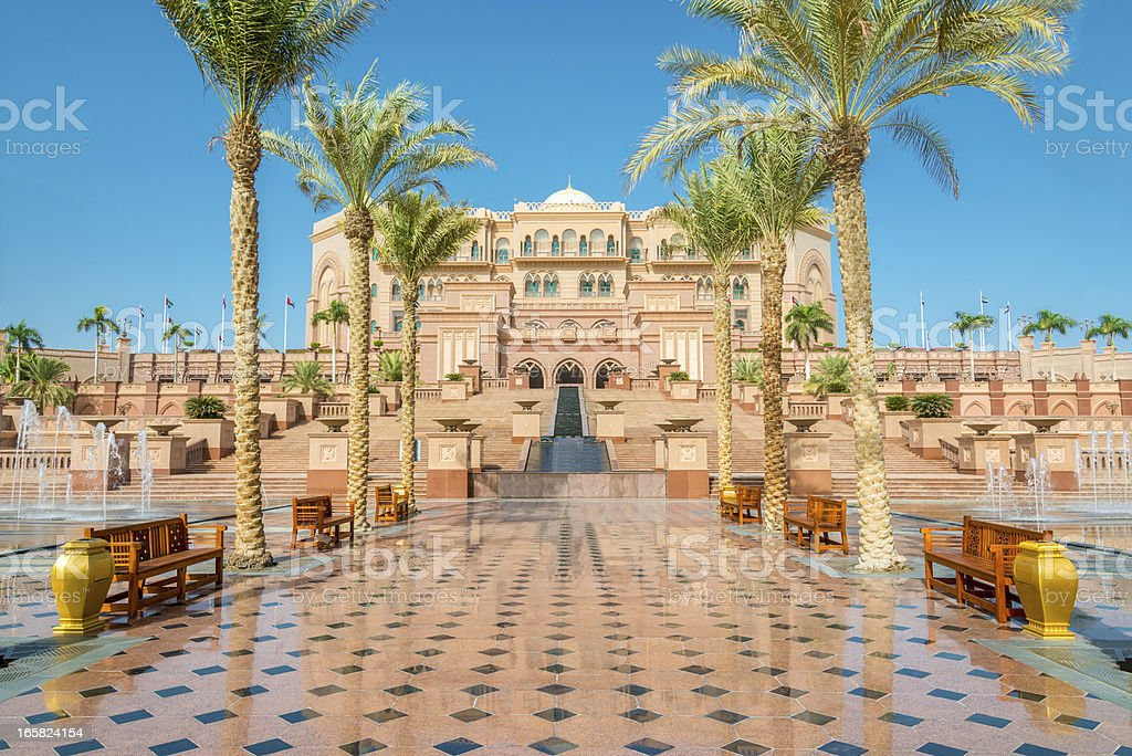 Emirates Palace Abu Dhabi UAE stock photo