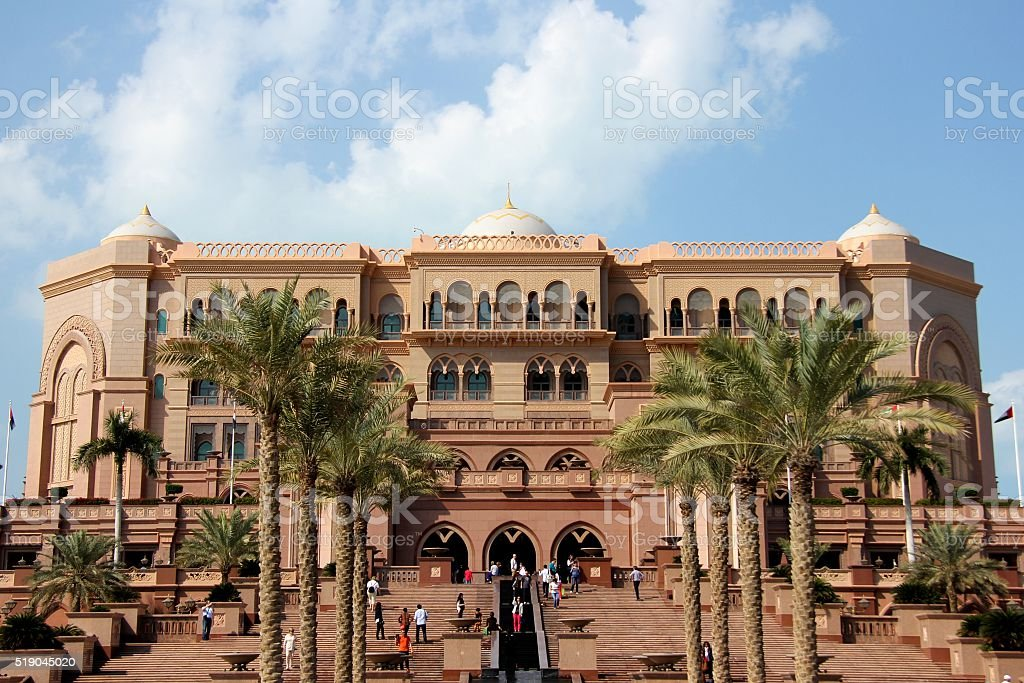Emirates Palace - Abu Dhabi, UAE. stock photo