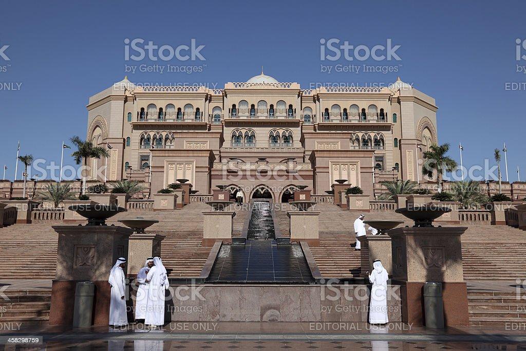 Emirates Palace in Abu Dhabi stock photo