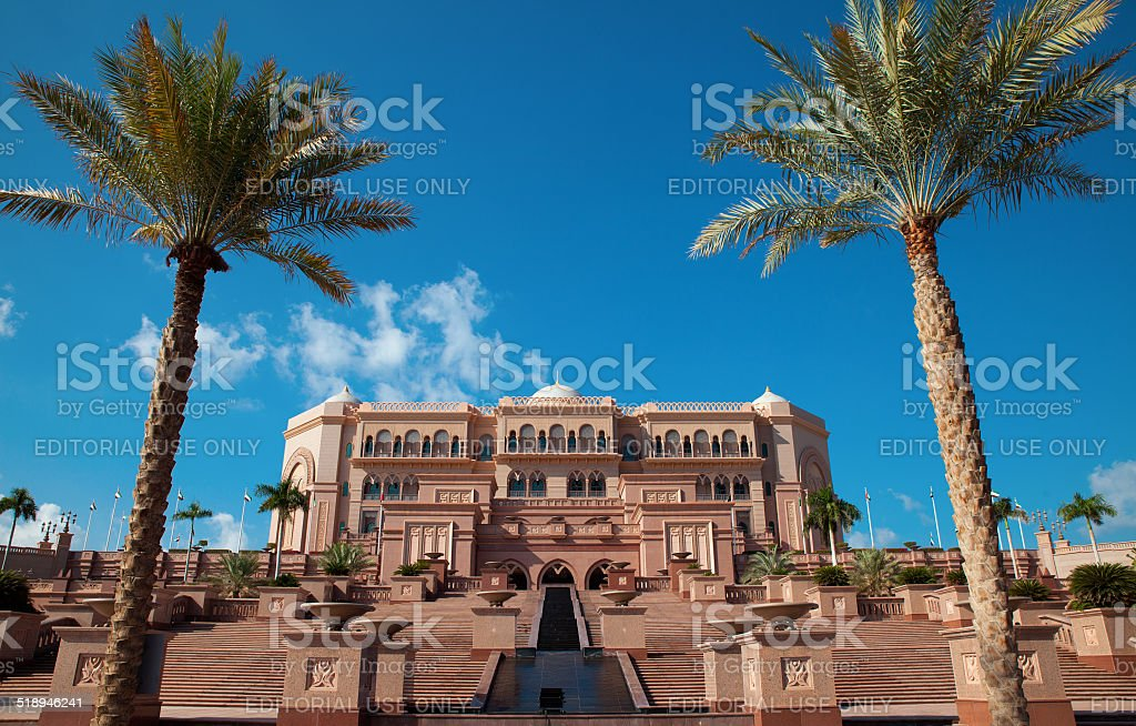 Emirates Palace stock photo
