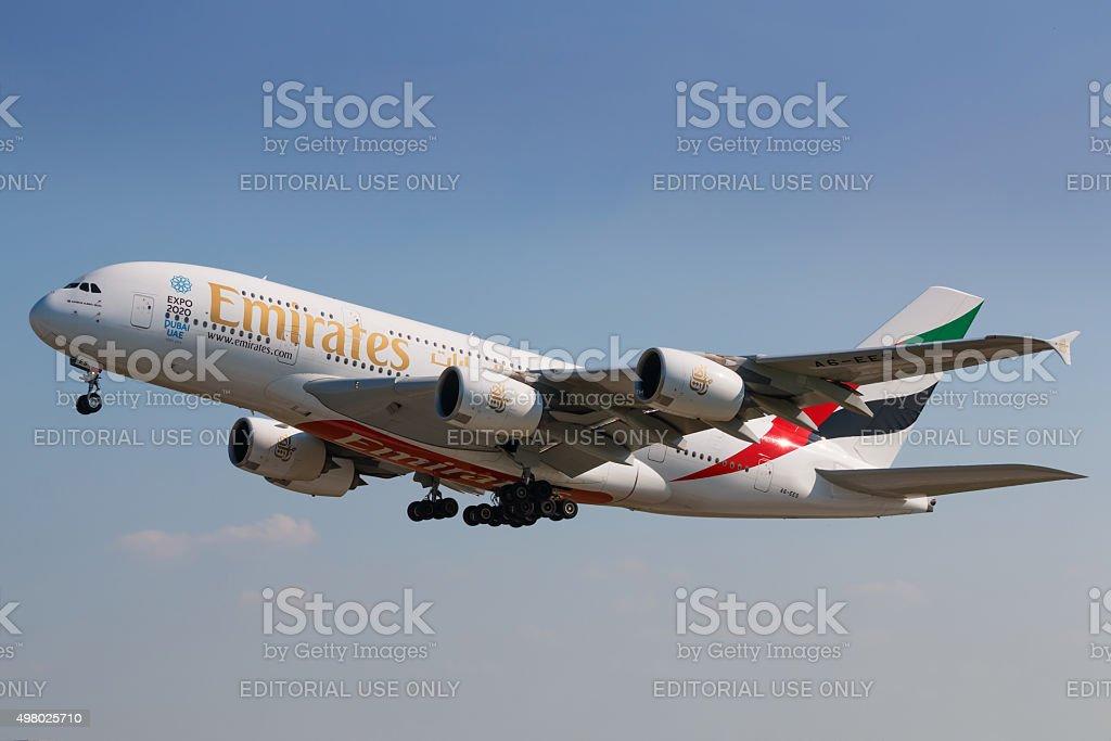 A380 Emirates stock photo