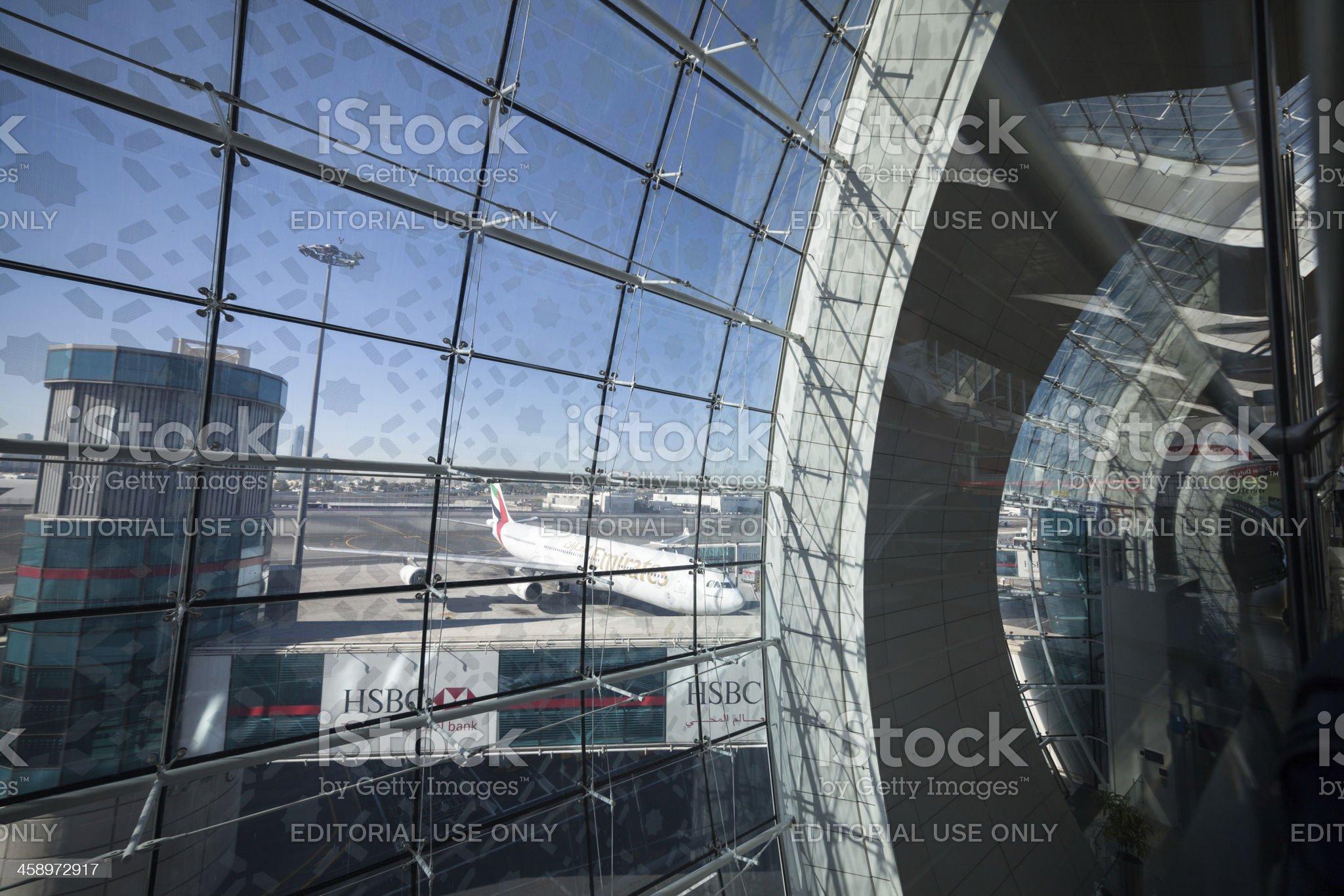 Emirates plane on Dubai Airport. royalty-free stock photo