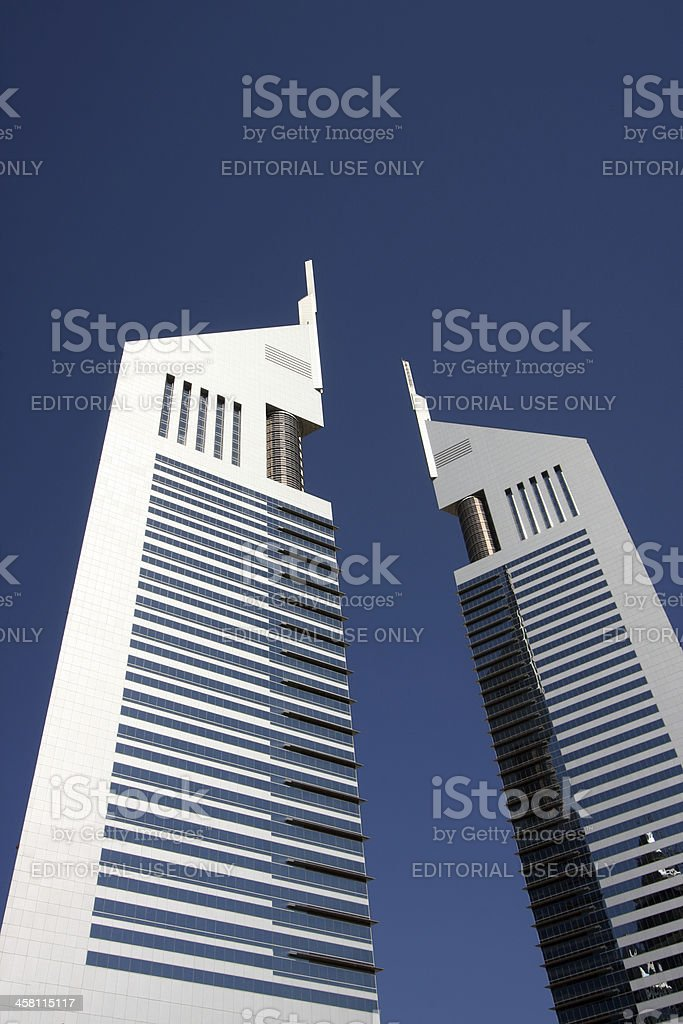 Emirates Towers in Dubai, UAE royalty-free stock photo