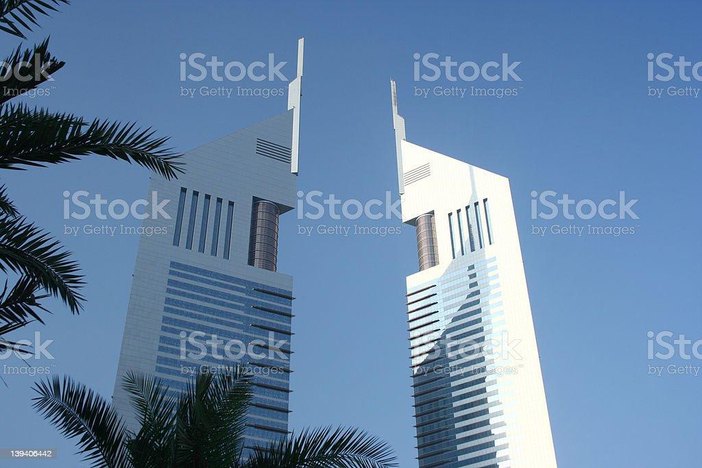 Emirates Towers royalty-free stock photo
