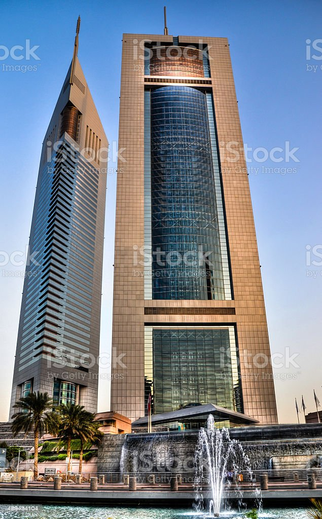 Emirates Towers stock photo
