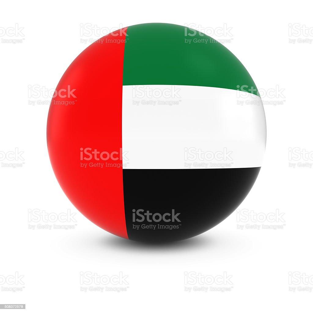 Emirati Flag Ball - Flag of United Arab Emirates Sphere stock photo