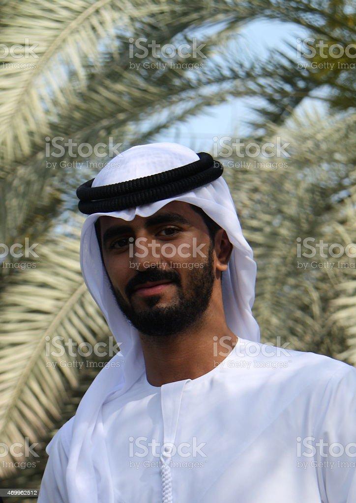 Emirati man in traditional dress, Dubai, UAE stock photo