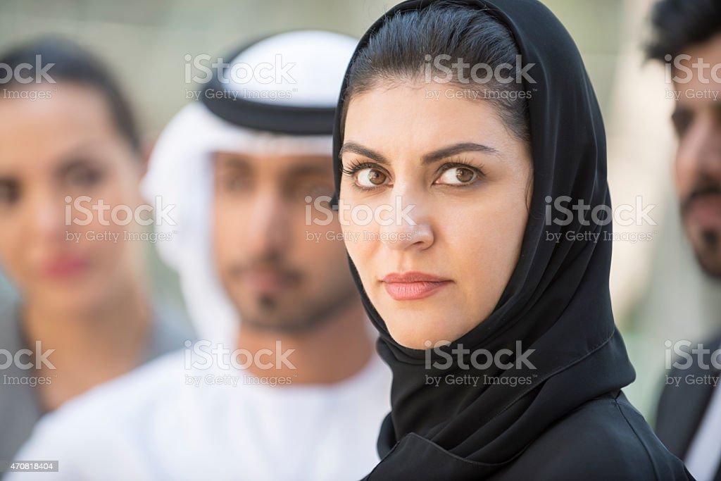 Emirati woman portrait stock photo