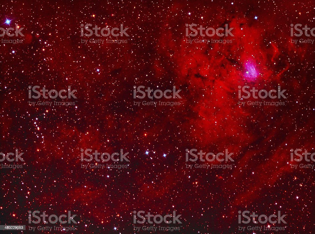 NGC1491 emission nebula in perseus stock photo