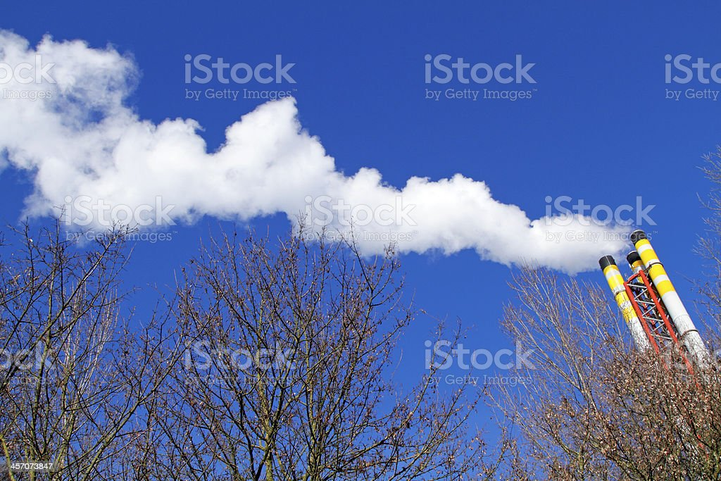 Emitting smoke stock photo