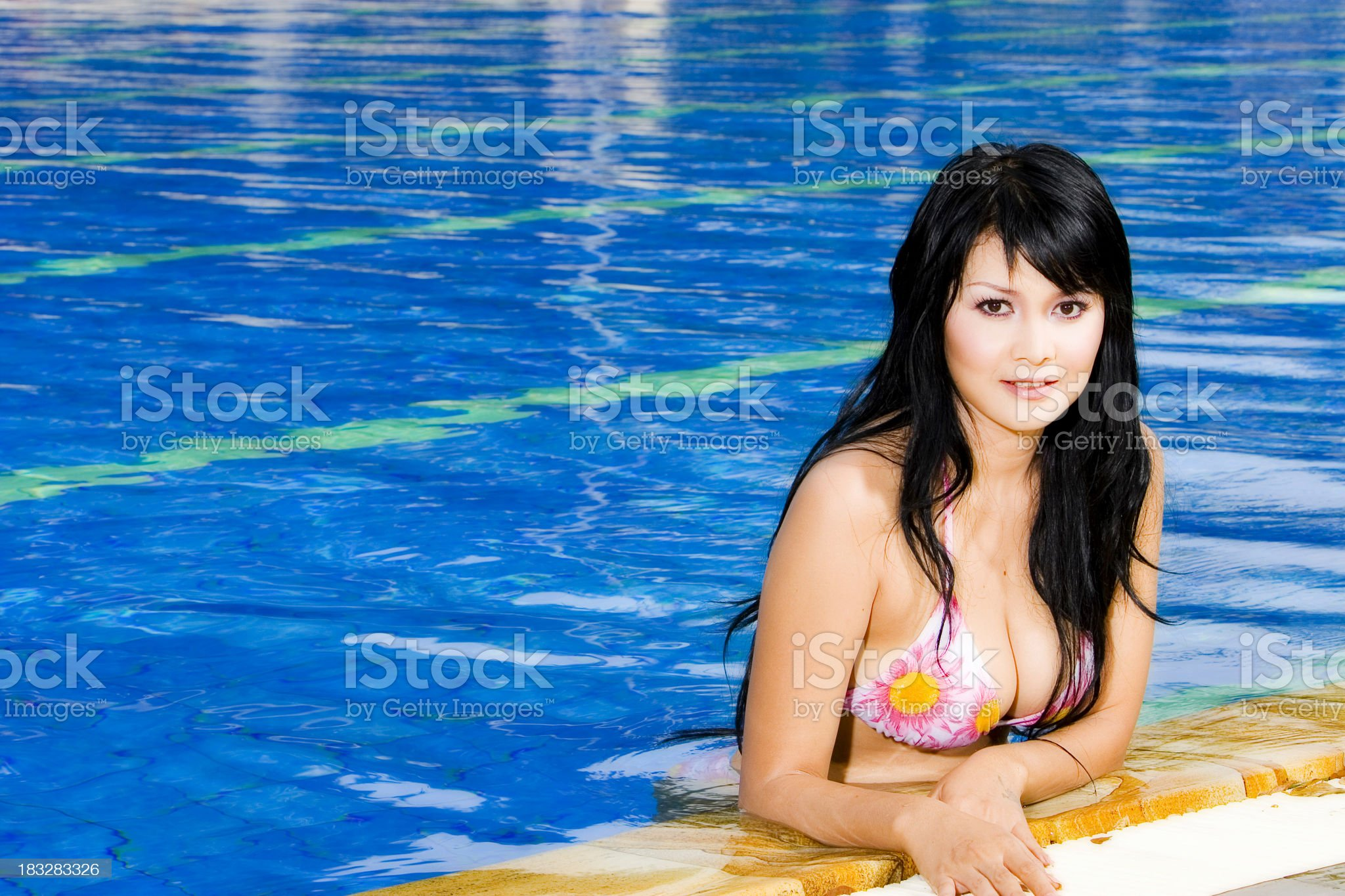 Emma on Poolside 03 royalty-free stock photo