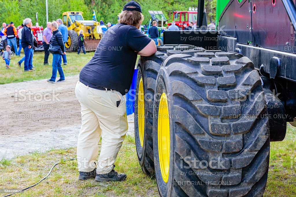 Emmaboda forest and tractor fair stock photo