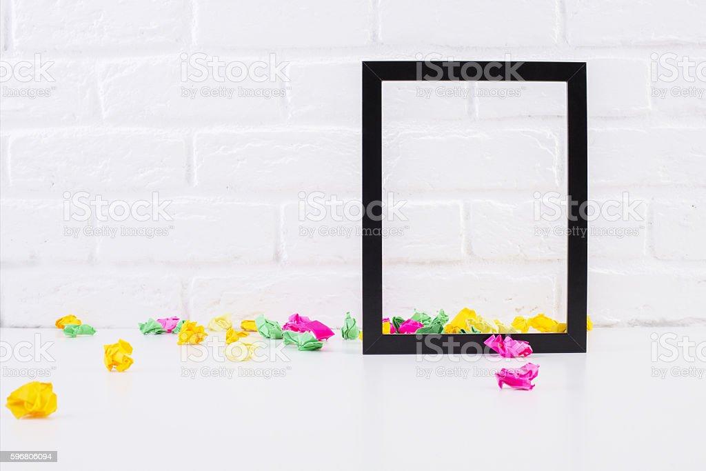 Emnpty see-through frame stock photo