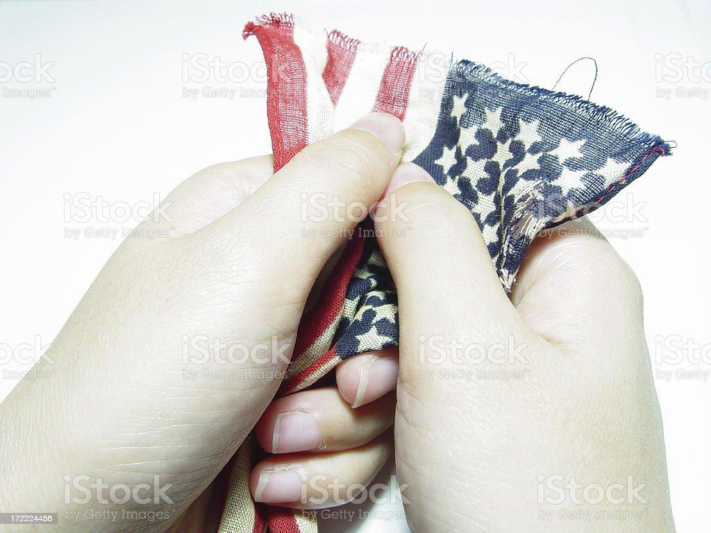 Emo flag series - (Hope/Loss) stock photo