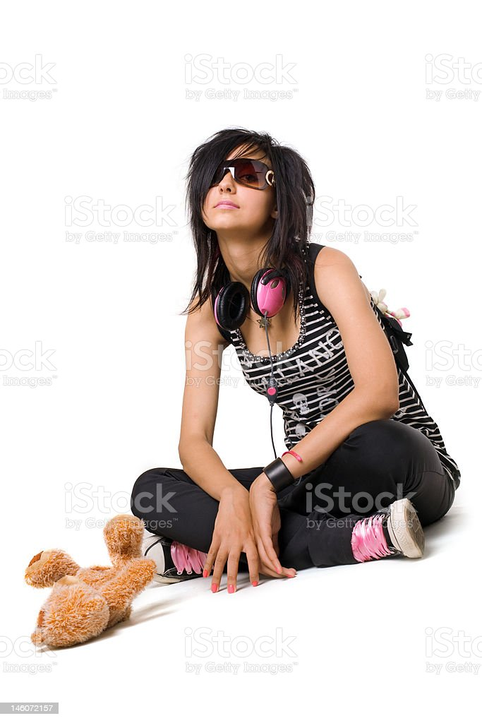 emo girl royalty-free stock photo