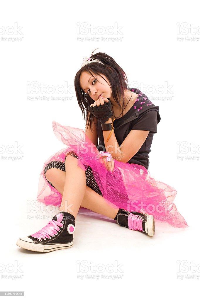 emo princess royalty-free stock photo