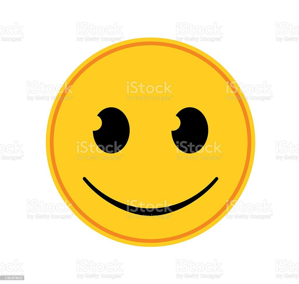 Emoticon - Happy stock photo