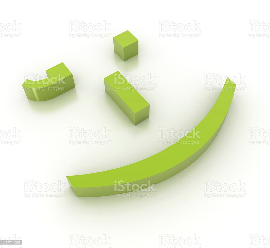 Emoticon smile royalty-free stock photo