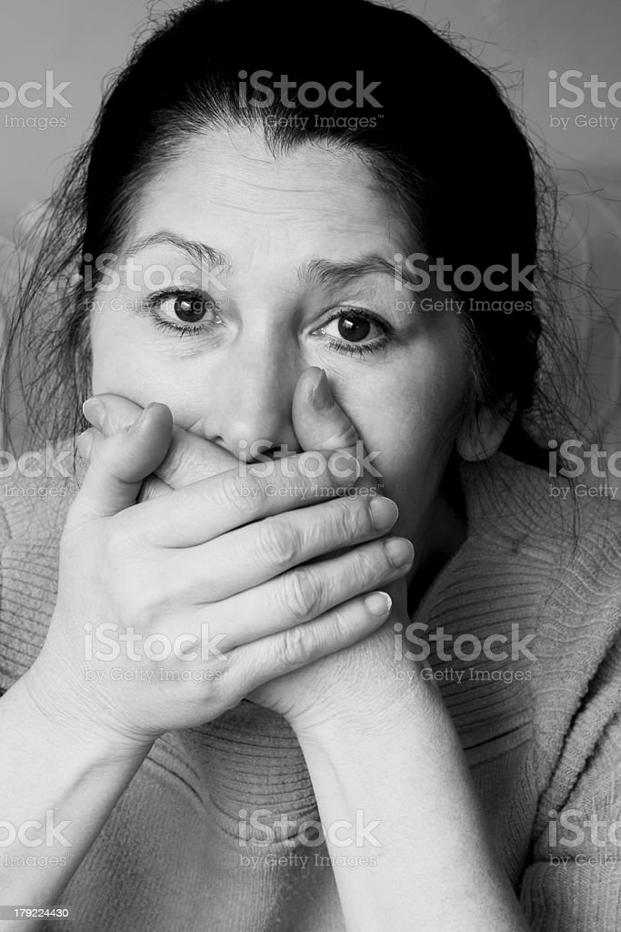 Emotion expression-woman face royalty-free stock photo