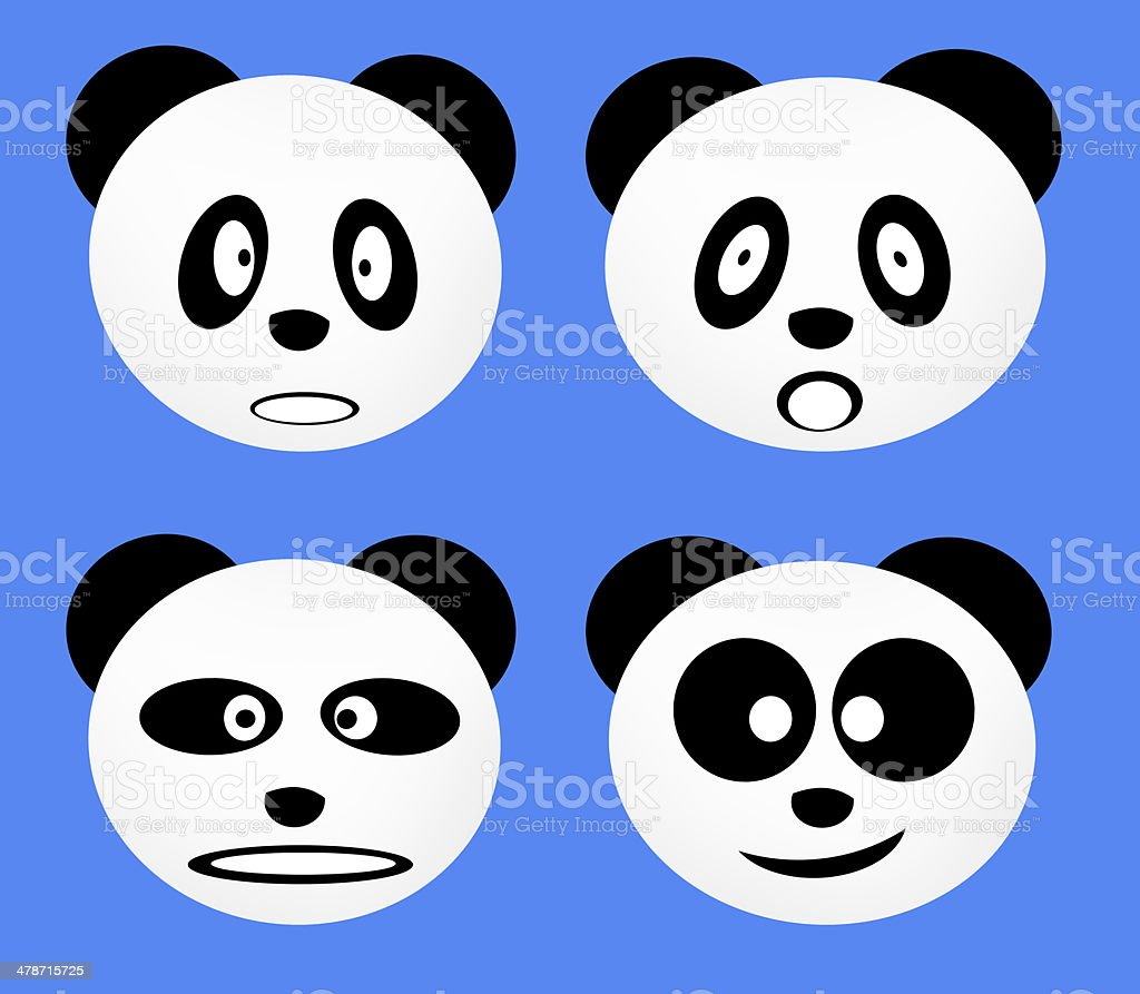 Emotion Little Panda stock photo