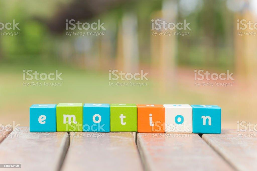 Emotion, word stock photo