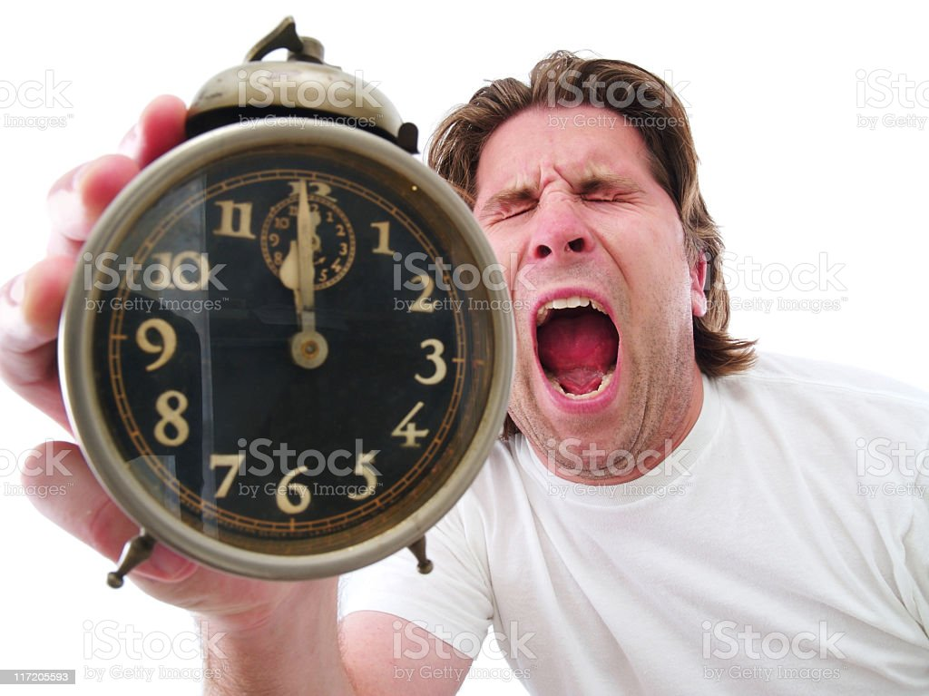 Emotional Alarm royalty-free stock photo