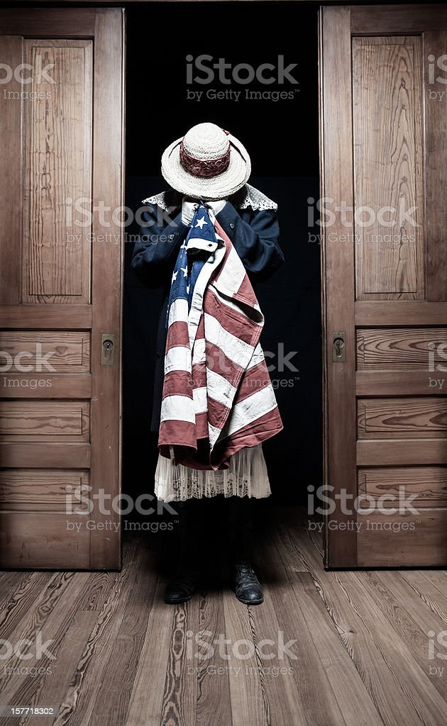 Emotional American Woman stock photo
