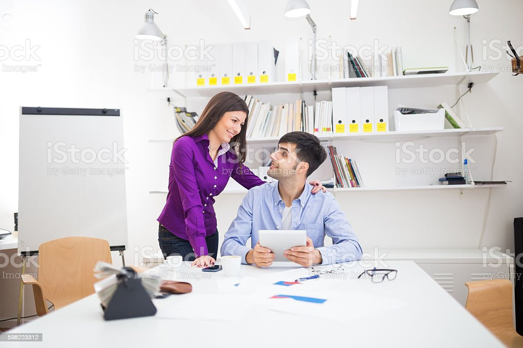 Emotional assistant stock photo
