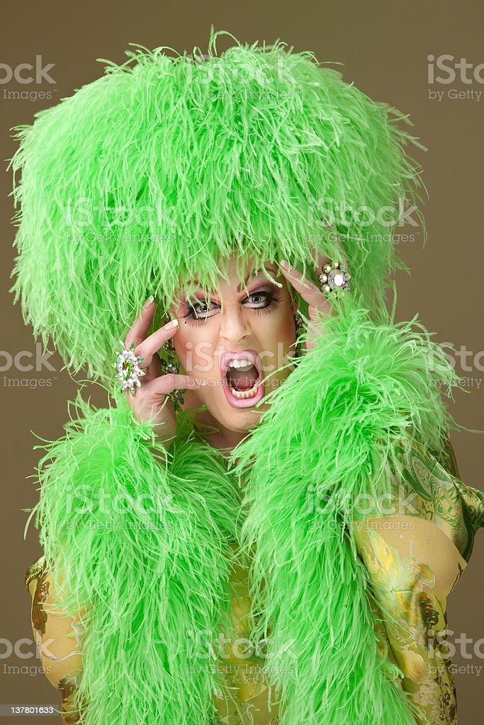 Emotional Drag Queen royalty-free stock photo