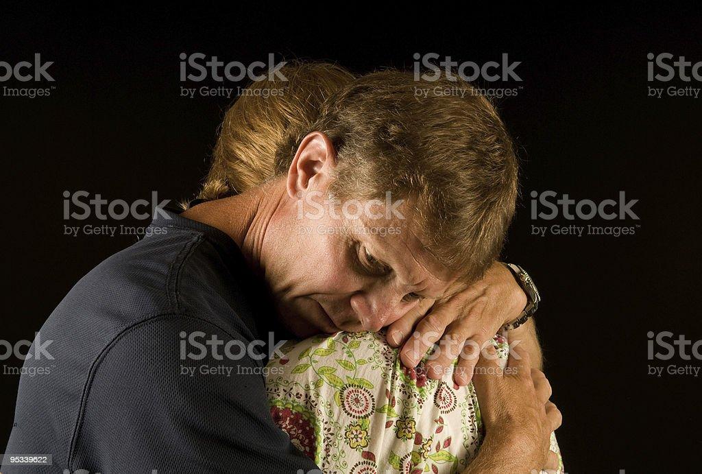 Emotional embrace royalty-free stock photo
