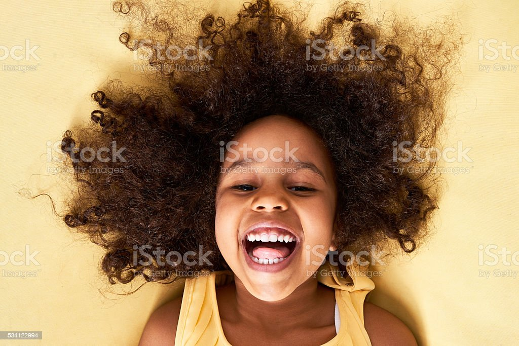 Emotional girl stock photo