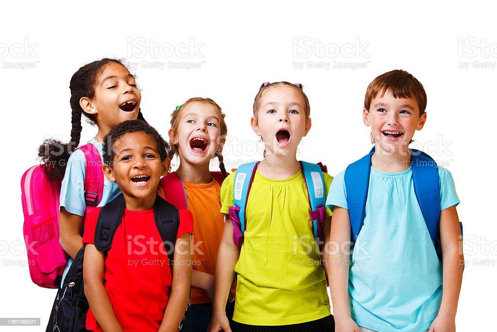 Emotional kids royalty-free stock photo