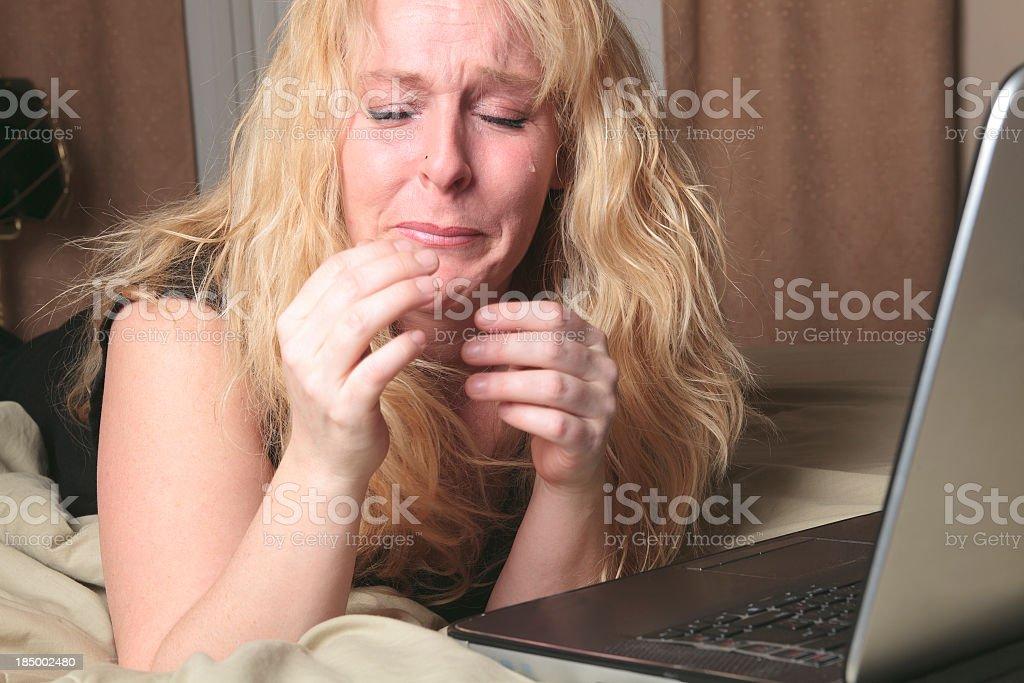 Emotional Life - Crying Computer royalty-free stock photo