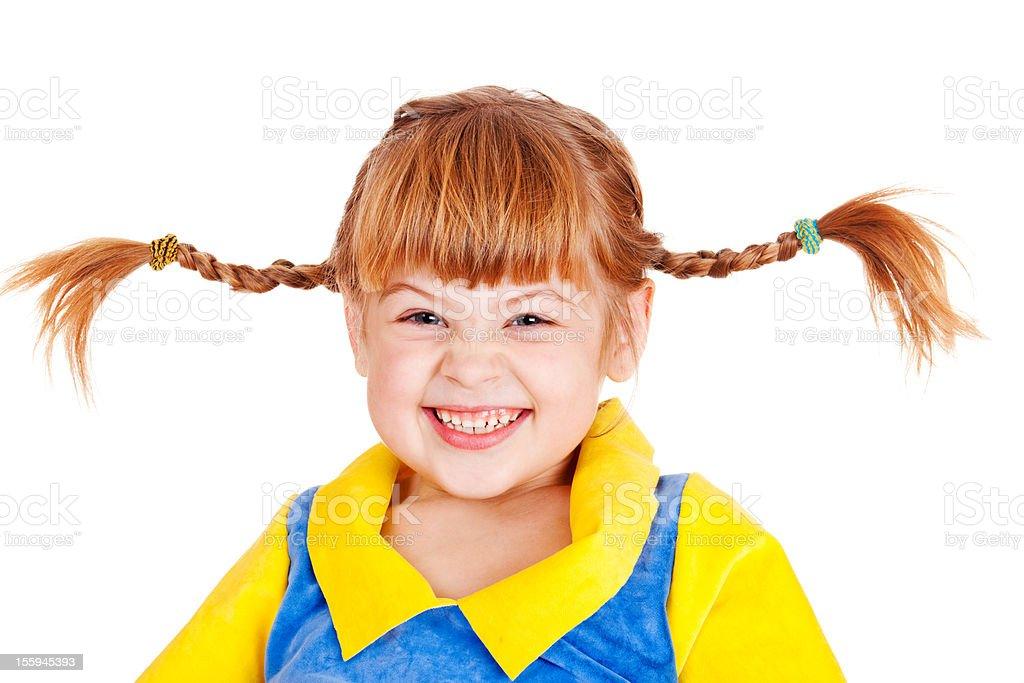 Emotional little girl stock photo