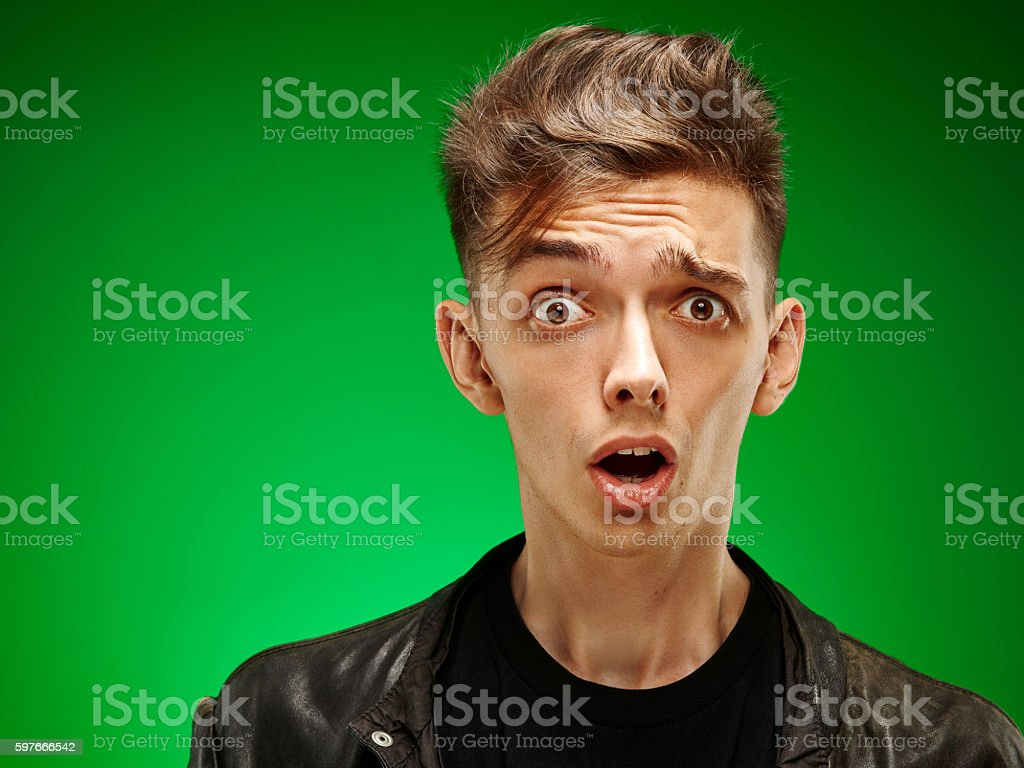 Emotional portrait of a teenager stock photo