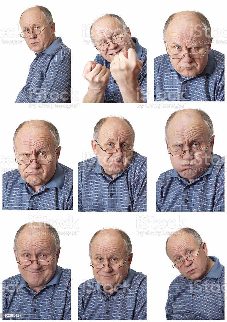 emotional senior male set #2 royalty-free stock photo