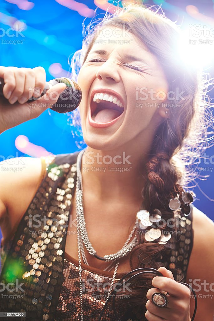 Emotional song stock photo