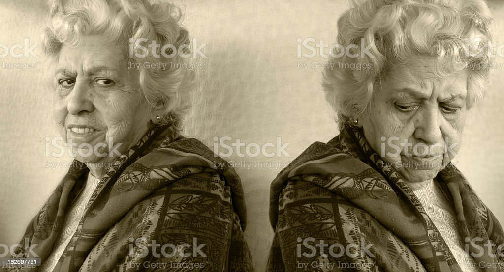 Emotional stages stock photo