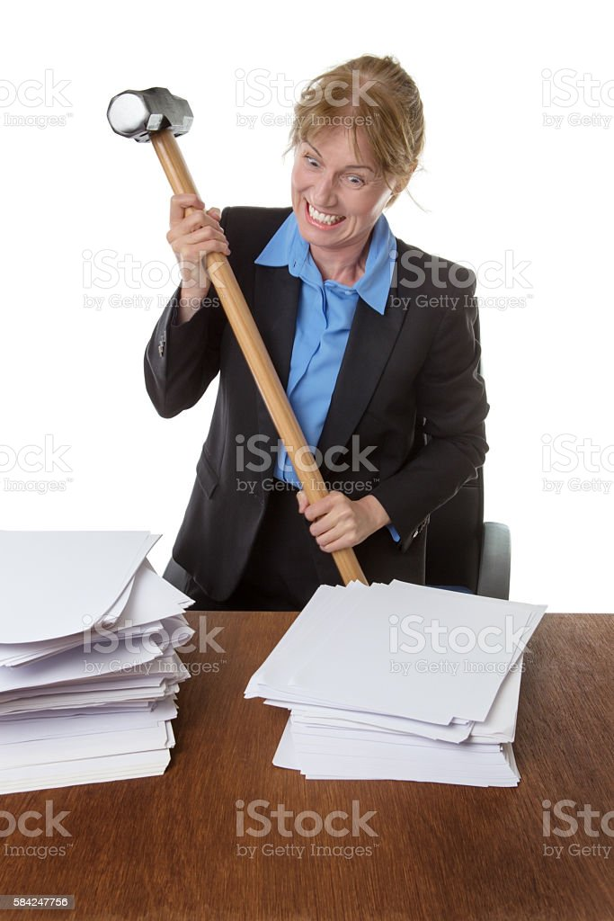 Emotional Stress business woman stock photo