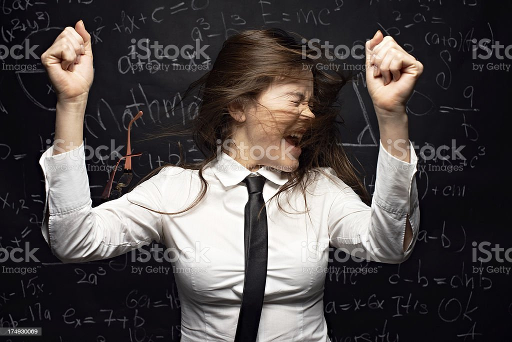 Emotional stress during study royalty-free stock photo