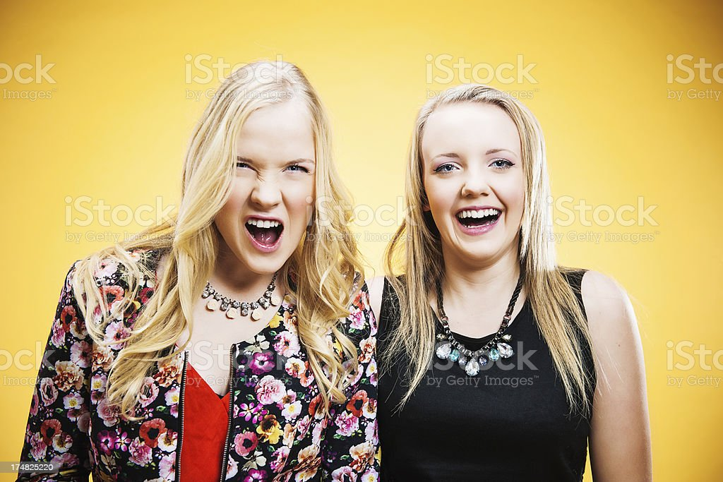 Emotional teenagers royalty-free stock photo