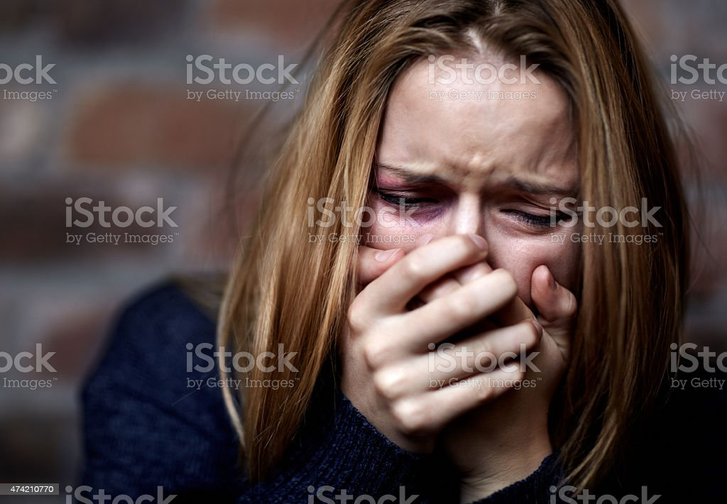 Emotionally victimized stock photo