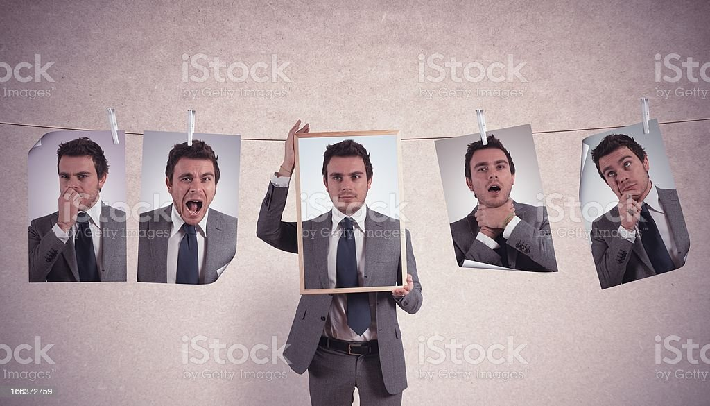 Emotions in business royalty-free stock photo