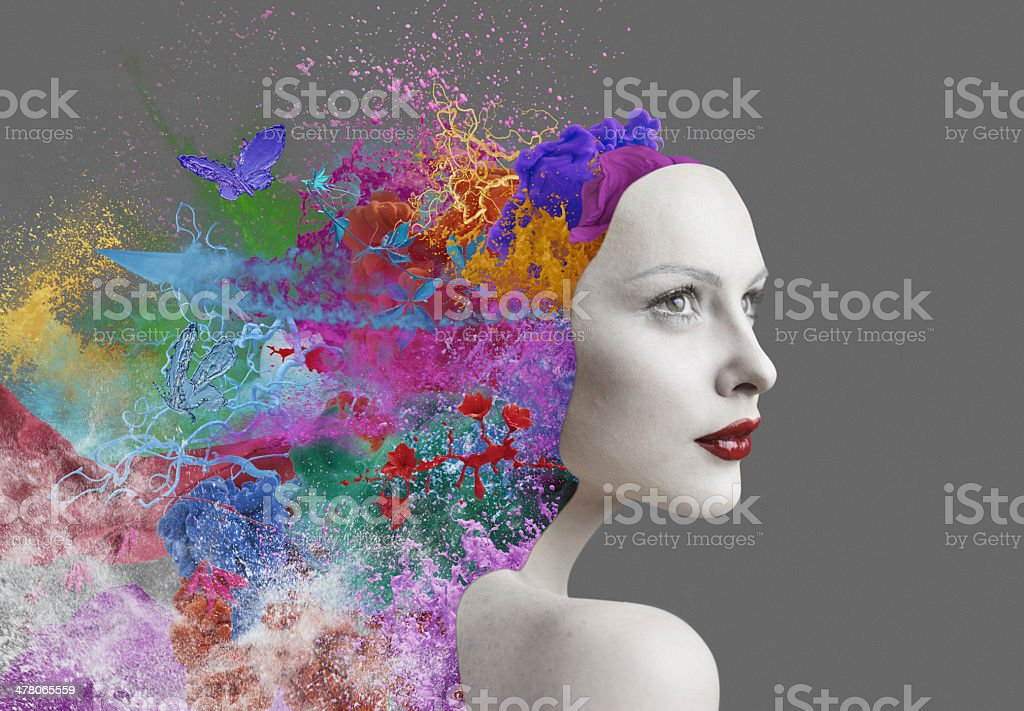 emotions inside human stock photo