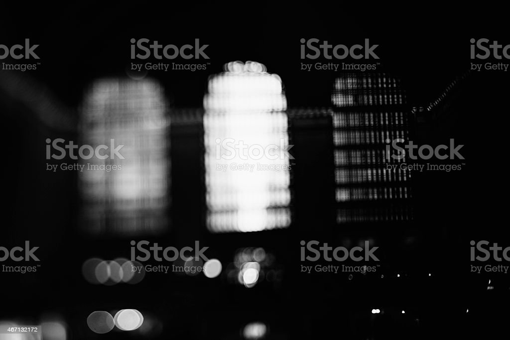 Emotive B&W Grand Central Station Windows. stock photo